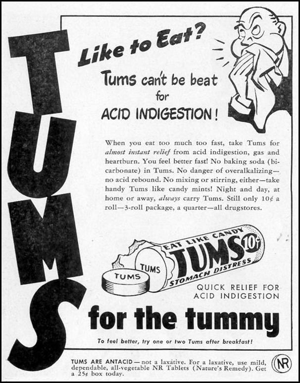 TUMS ANTACID LIFE 11/15/1948 p. 134