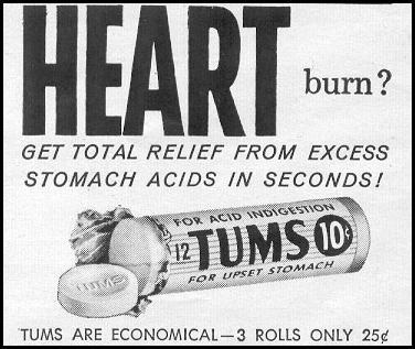 TUMS ANTACID LOOK 09/16/1958 p. 10