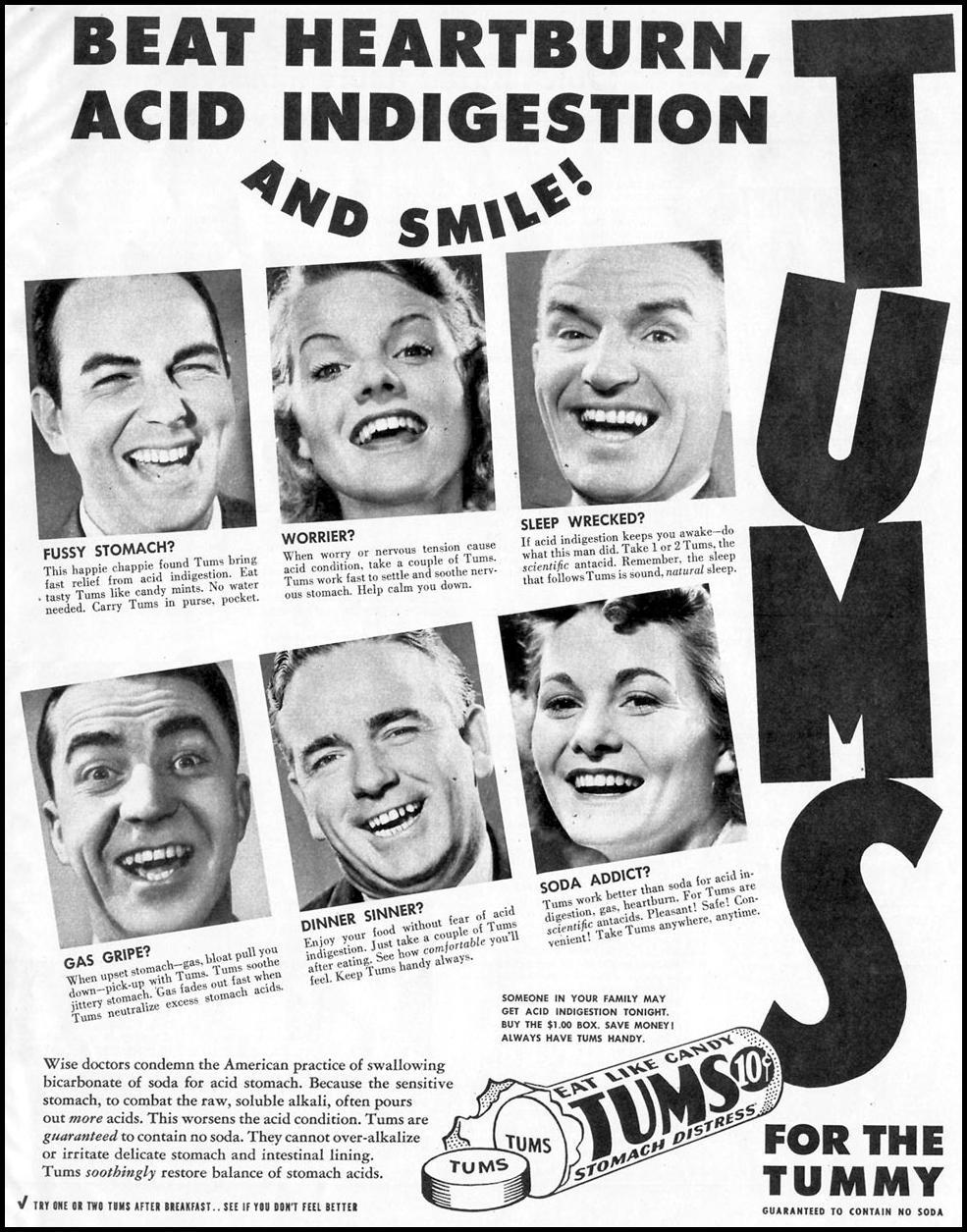 TUMS ANTACID LOOK 12/04/1951 p. 53