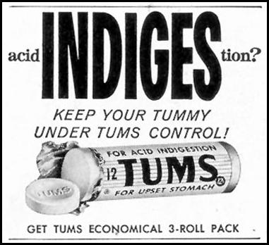 TUMS ANTACID SATURDAY EVENING POST 08/15/1959 p. 95