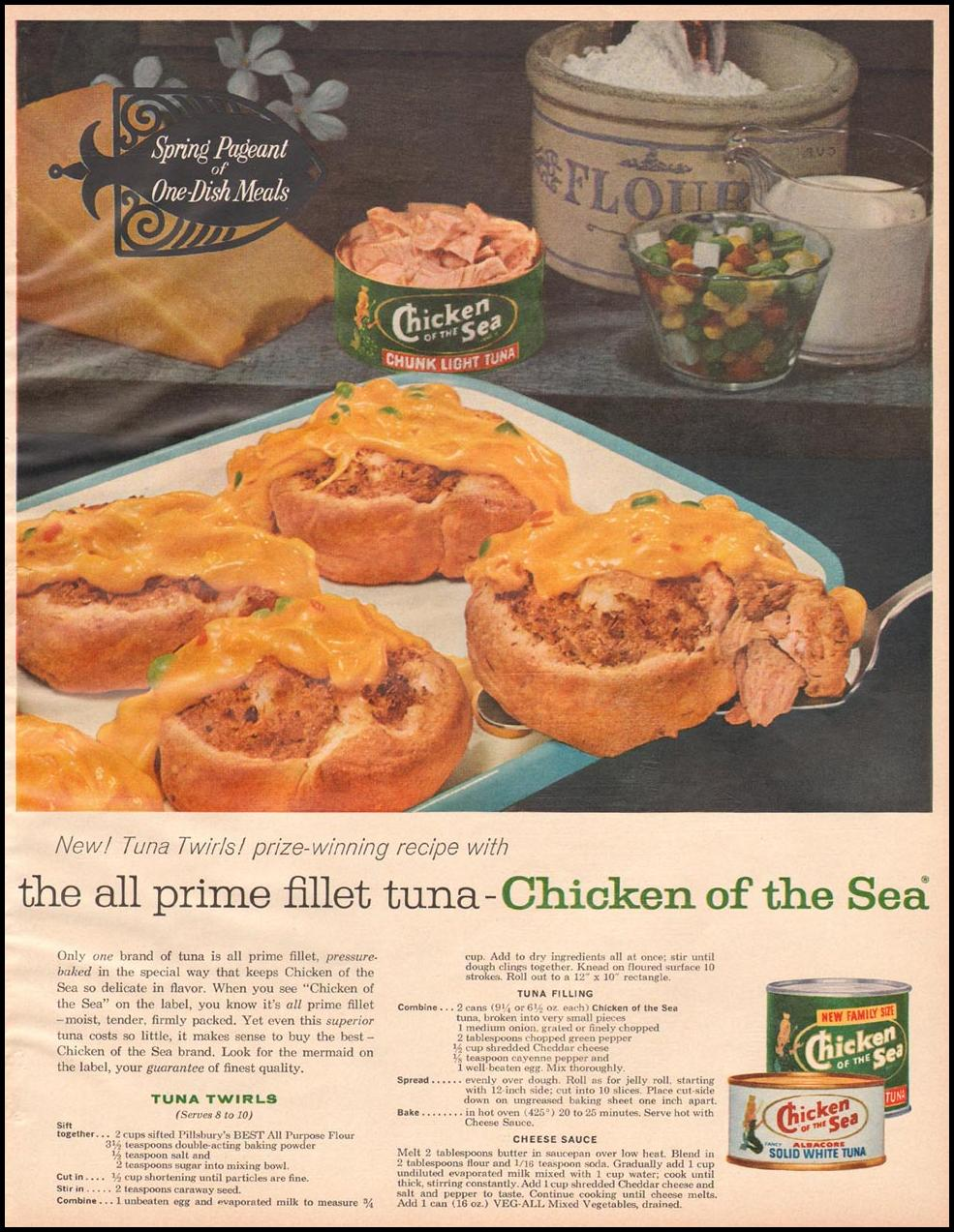 CHICKEN OF THE SEA TUNA BETTER HOMES AND GARDENS 03/01/1960 p. 117