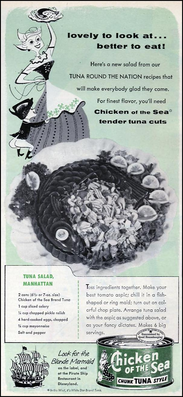 CHICKEN OF THE SEA TUNA FAMILY CIRCLE 02/01/1956 p. 10