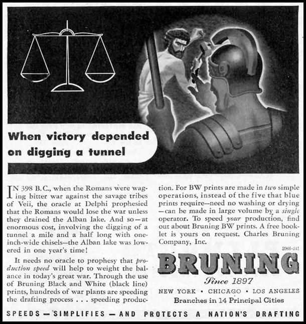 BRUNING BW DRAFTING PRINTS TIME 08/17/1942 p. 64