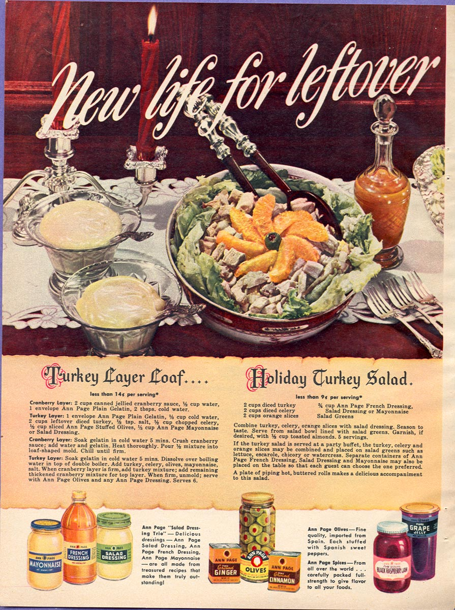 A & P ANN PAGE FOODS WOMAN'S DAY 12/01/1948 p. 26