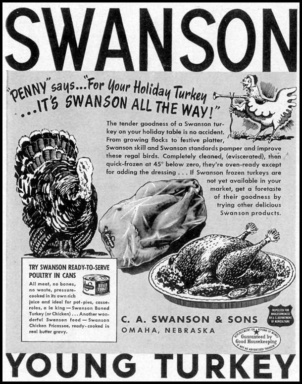 SWANSON YOUNG TURKEY LIFE 11/15/1948 p. 122