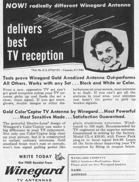 WINEGARD TV ANTENNA LIFE 02/02/1959 p. 96