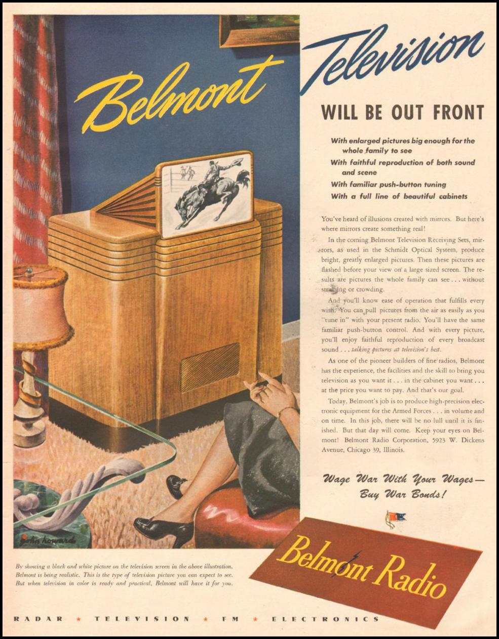 BELMONT TELEVISIONS LIFE 03/12/1945