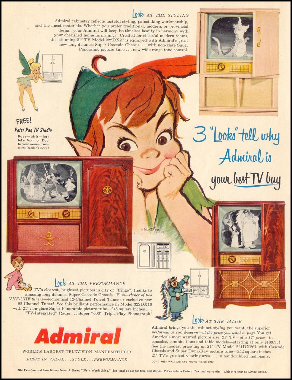 ADMIRAL TELEVISIONS LIFE 04/13/1953 p. 80