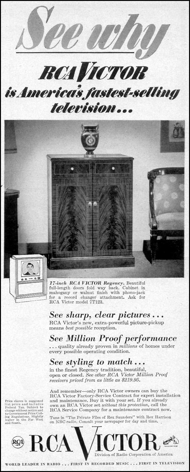 RCA VICTOR TELEVISION LIFE 07/30/1951 p. 61