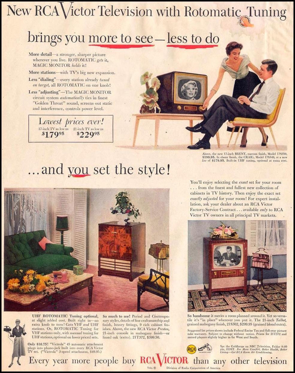 RCA VICTOR TELEVISIONS LIFE 08/17/1953 p. 68
