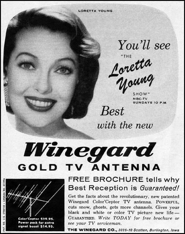 WINEGARD GOLD TV ANTENNA LIFE 10/05/1959 p. 164