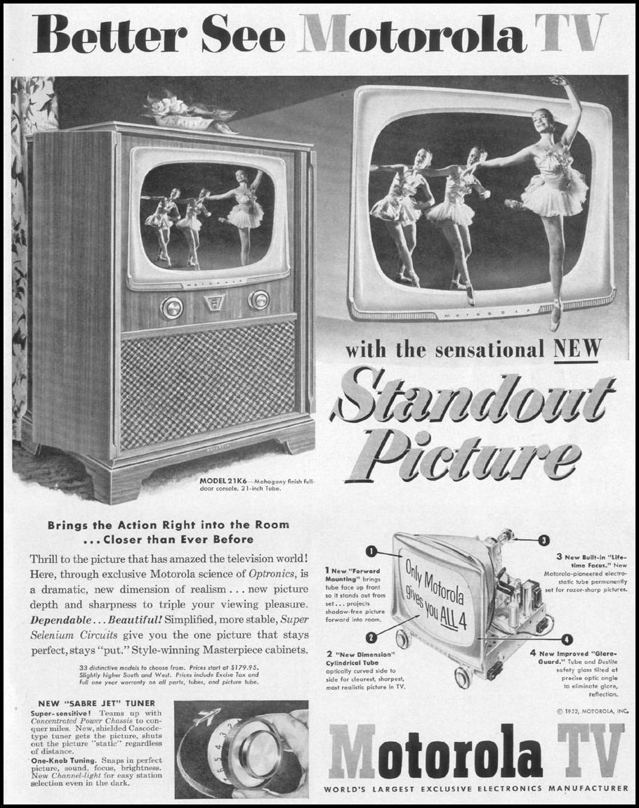 MOTOROLA TV LIFE 10/13/1952 p. 99
