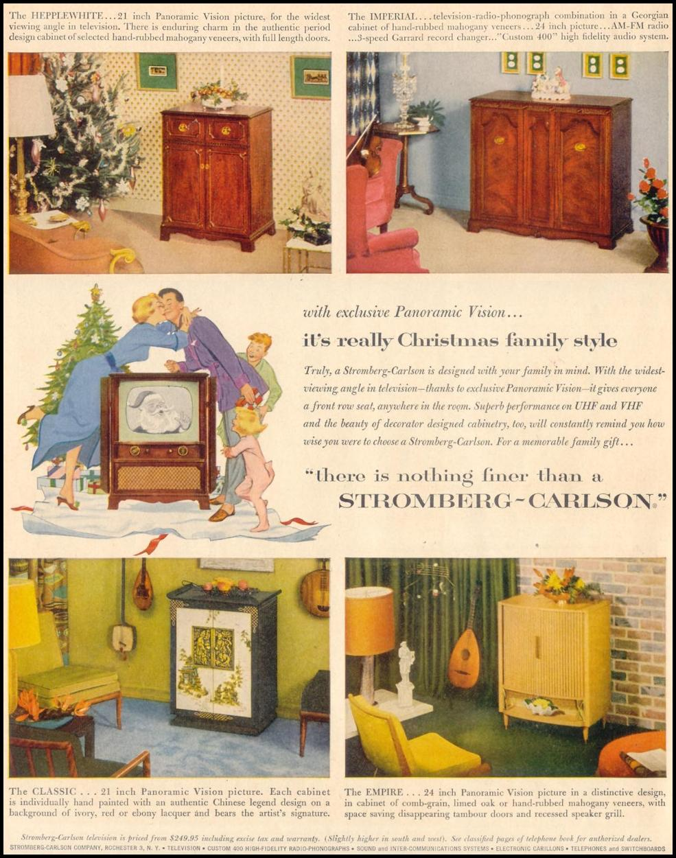 STROMBERG-CARLSON TELEVISIONS LIFE 11/30/1953 p. 128