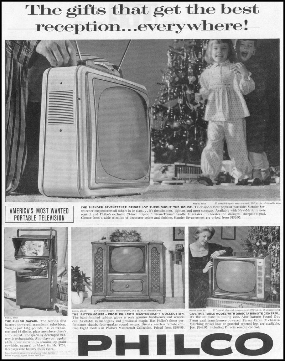 PHILCO TELEVISIONS LIFE 12/14/1959 p. 1
