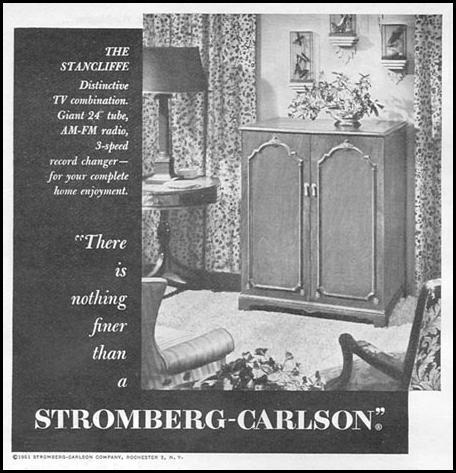 STROMBERG-CARLSON TELEVISIONS NEWSWEEK 08/20/1951 p. 72