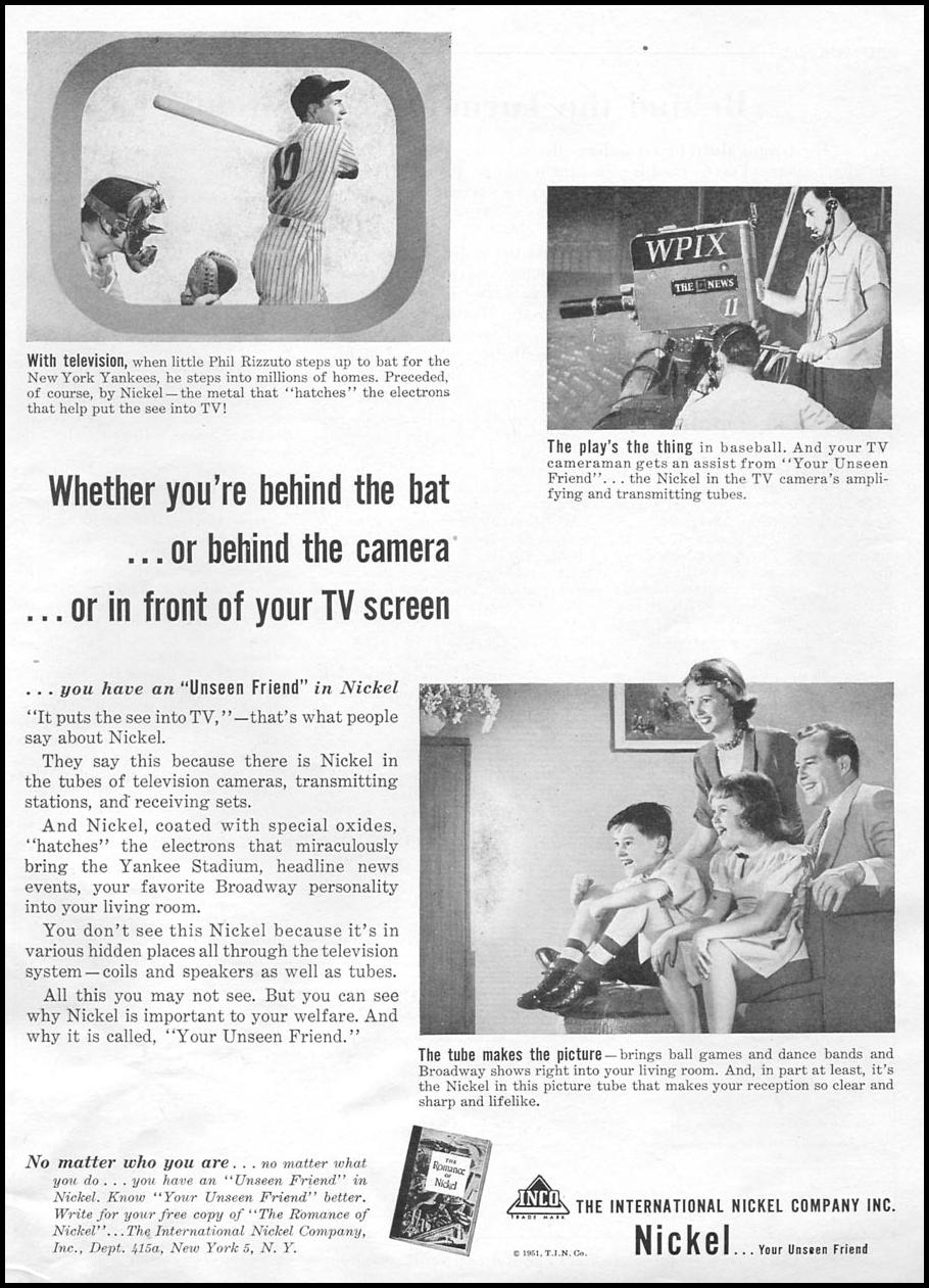 NICKEL PRODUCTS NEWSWEEK 09/03/1951 p. 27