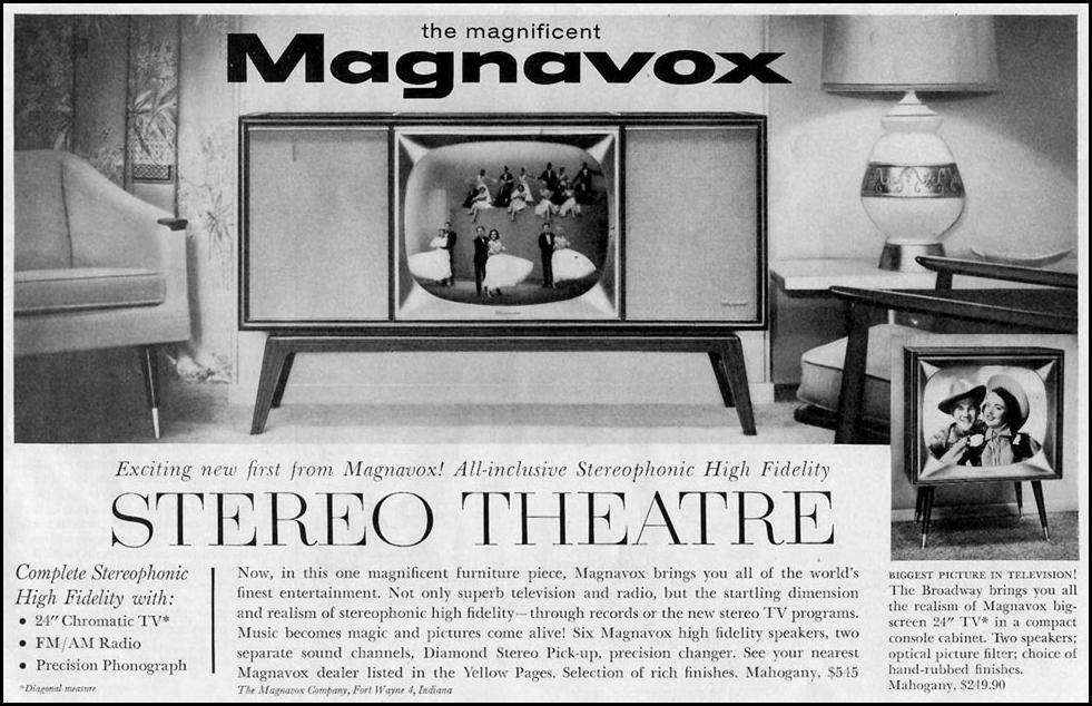 MAGNAVOX STEREO THEATRE TELEVISION SATURDAY EVENING POST 05/02/1959 p. 115