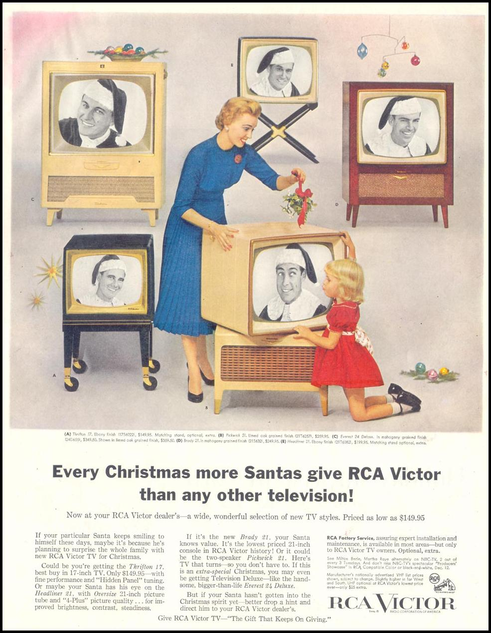 RCA VICTOR TELEVISIONS SATURDAY EVENING POST 12/10/1955