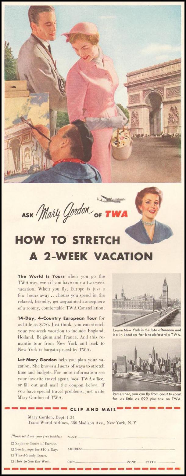AIR TRAVEL LADIES' HOME JOURNAL 03/01/1954 p. 4