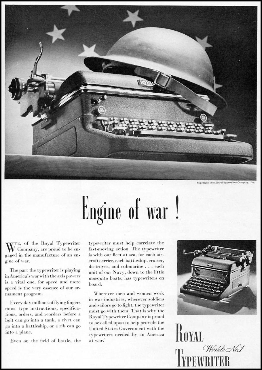 ROYAL TYPEWRITERS TIME 02/16/1942 p. 55