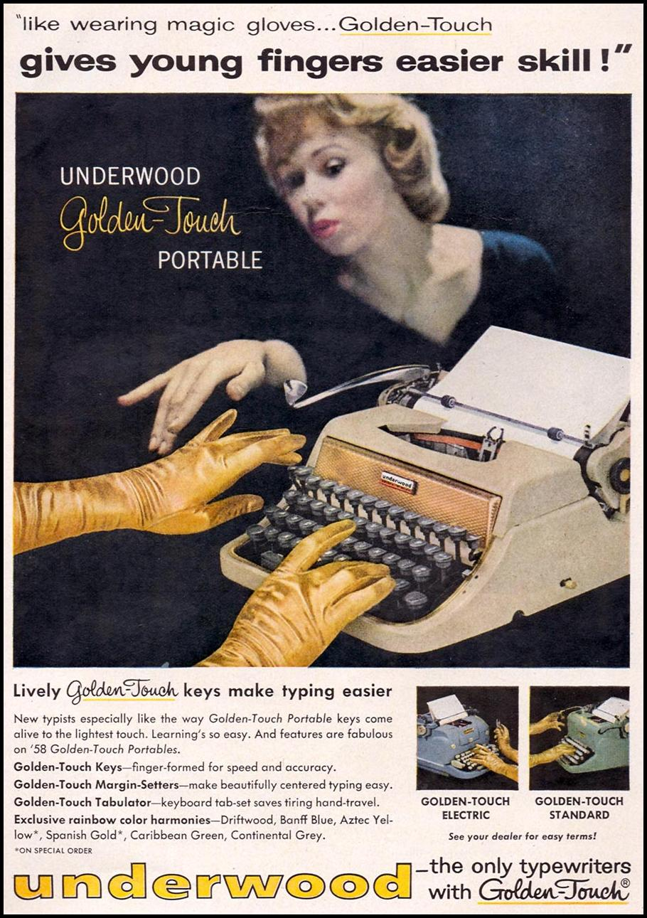 UNDERWOOD TYPEWRITERS TIME 05/05/1958 p. 57