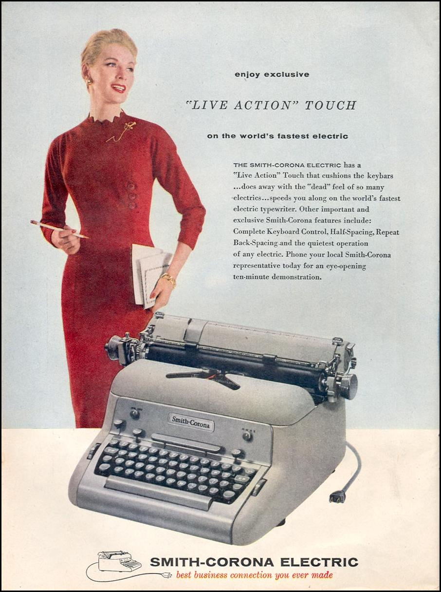 SMITH-CORONA ELECTRIC TYPEWRITERS TIME 09/17/1956 p. 84