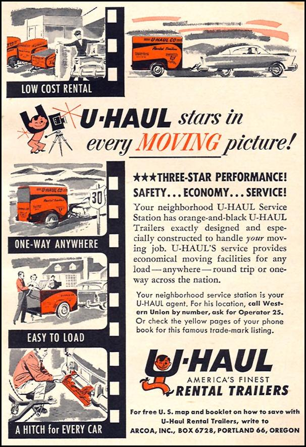 U-HAUL RENTAL TRAILERS CORONET 08/01/1955 p. 95