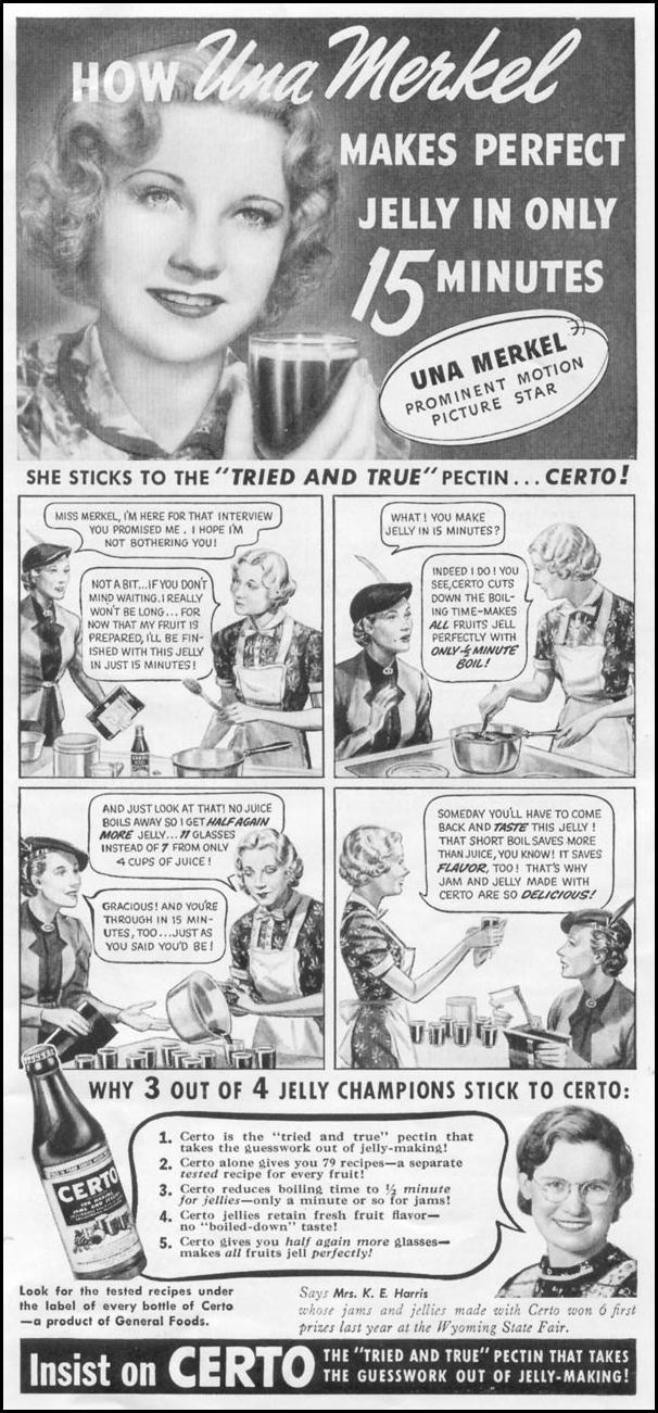 CERTO PECTIN WOMAN'S DAY 06/01/1939 p. 41