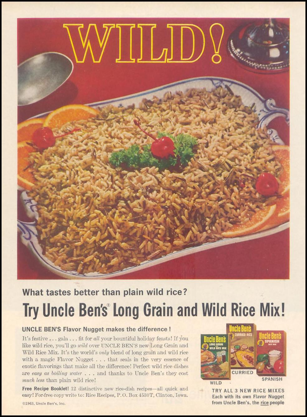 UNCLE BEN'S WILD RICE MIX TIME 12/06/1963 p. 88