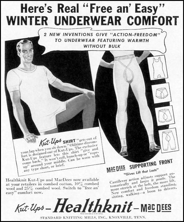 HEALTHKNIT MEN'S UNDERWEAR LIFE 10/13/1941 p. 26