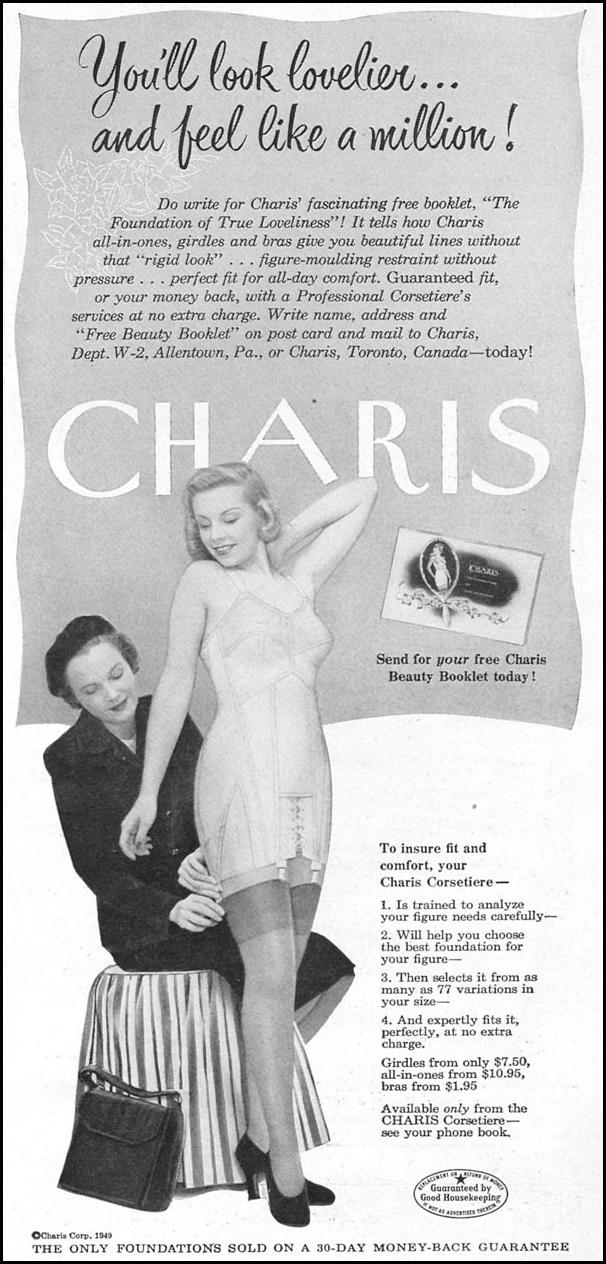 CHARIS GIRDLES WOMAN'S DAY 04/01/1949 p. 93