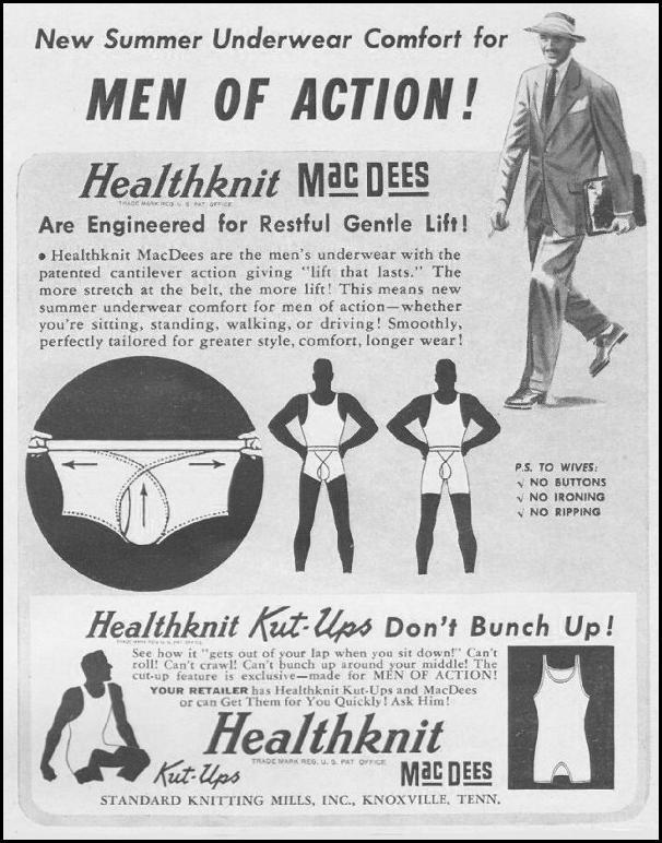 HEALTHKNIT MACDEES UNDERWEAR LIFE 06/22/1942 p. 83
