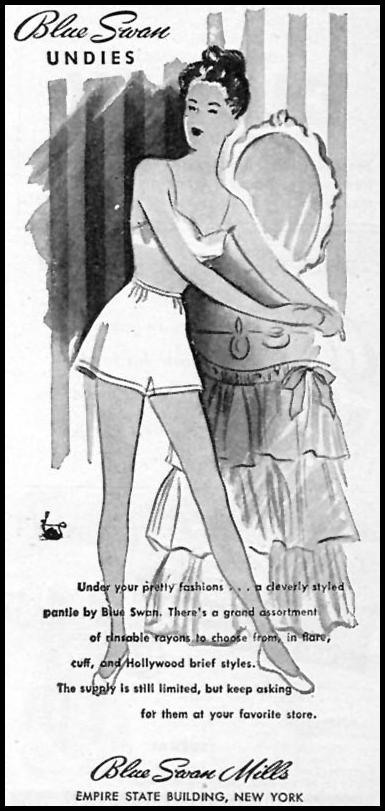 BLUE SWAN UNDIES WOMAN'S DAY 07/01/1946 p. 79