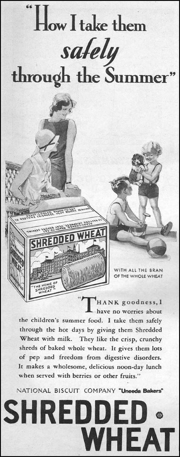 NABISCO SHREDDED WHEAT THE HOME MAGAZINE 05/01/1931 p. 26