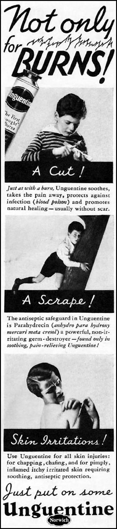 UNGUENTINE ANTISEPTIC BETTER HOMES AND GARDENS 05/01/1936 p. 105