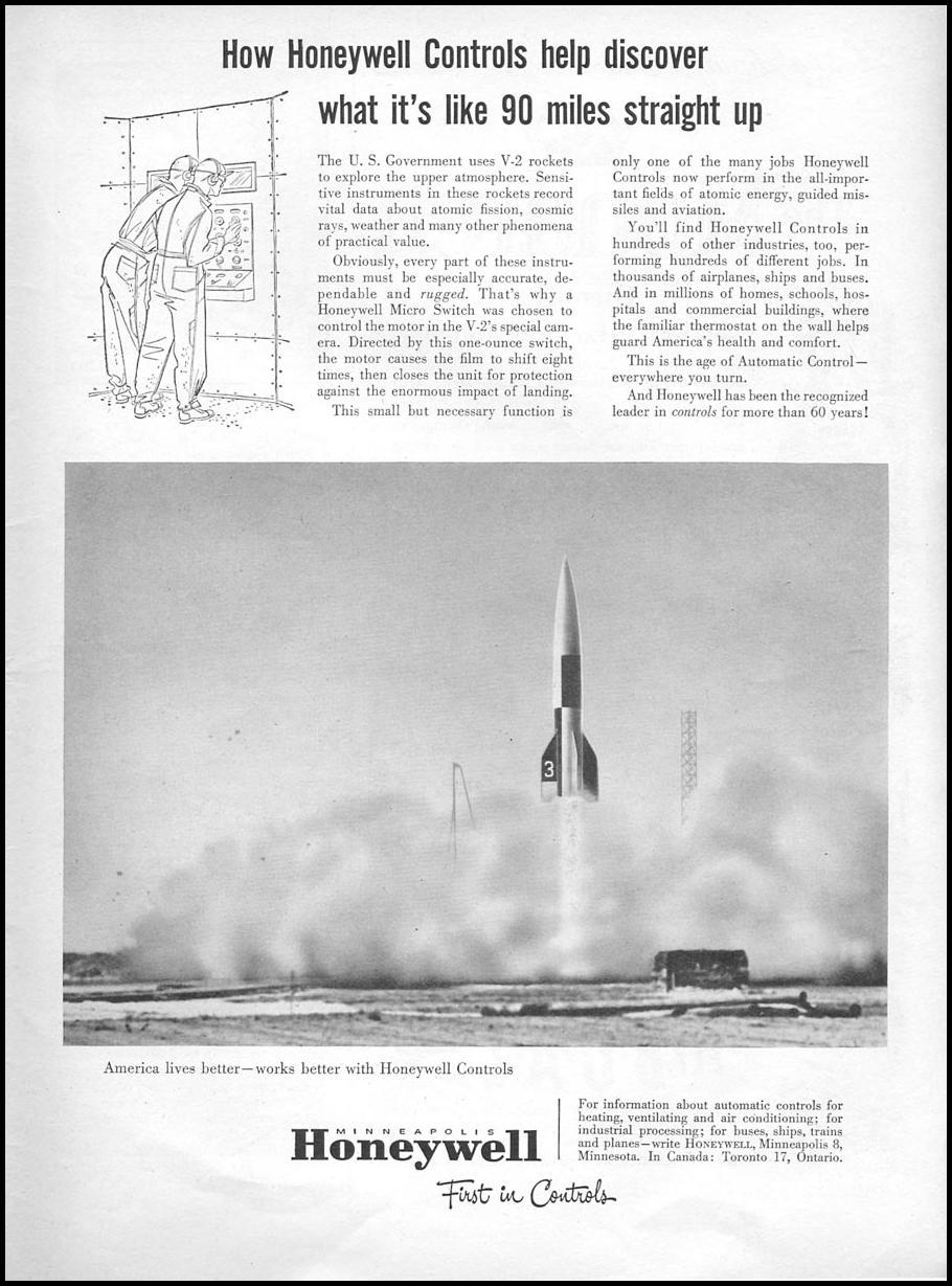 HONEYWELL CONTROLS NEWSWEEK 06/11/1951 p. 93