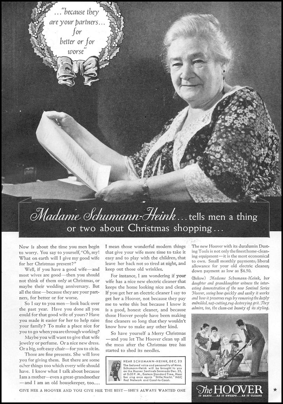 HOOVER VACUUM CLEANERS GOOD HOUSEKEEPING 12/01/1934 p. 157