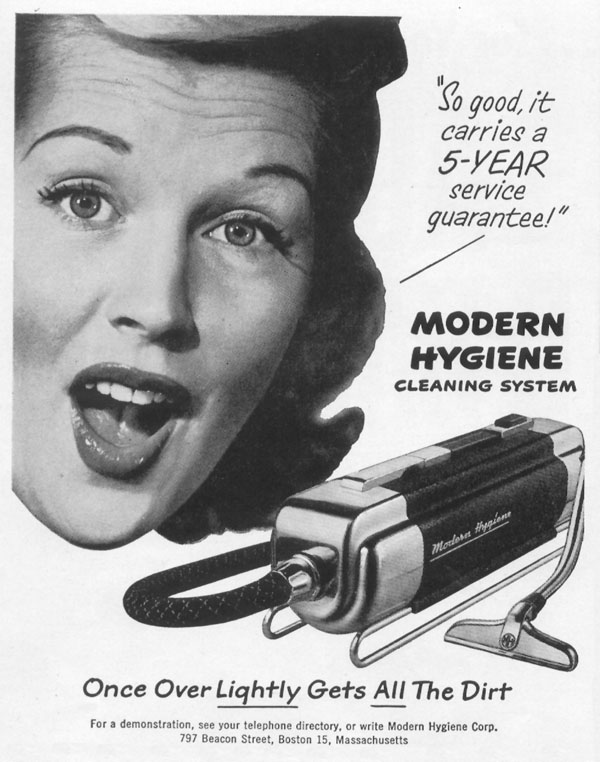 MODERN HYGIENE CLEANING SYSTEM LIFE 01/21/1952 p. 98