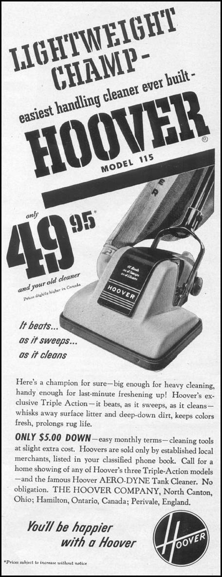 HOOVER VACUUM CLEANERS LIFE 04/17/1950 p. 31