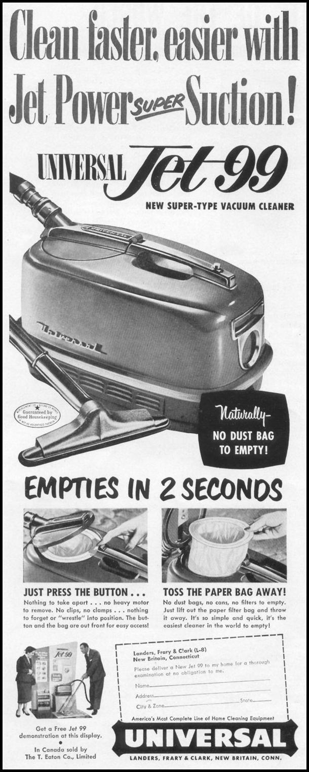 JET 99 VACUUM CLEANER LIFE 06/16/1952 p. 34