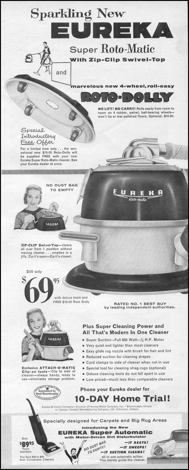 SUPER ROTO-MATIC VACUUM CLEANER LIFE 11/14/1955 p. 23