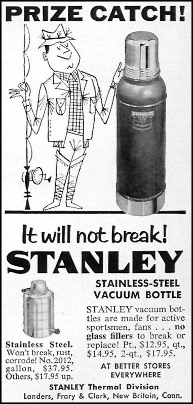STANLEY STAINLESS-STEEL VACUUM BOTTLE SPORTS ILLUSTRATED 05/11/1959 p. 85