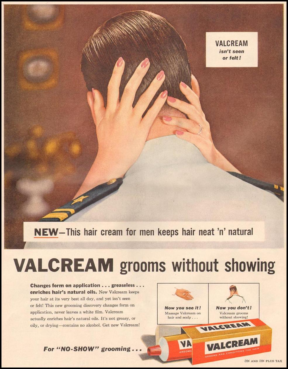 VALCREAM HAIR TONIC LIFE 06/24/1957 p. 128