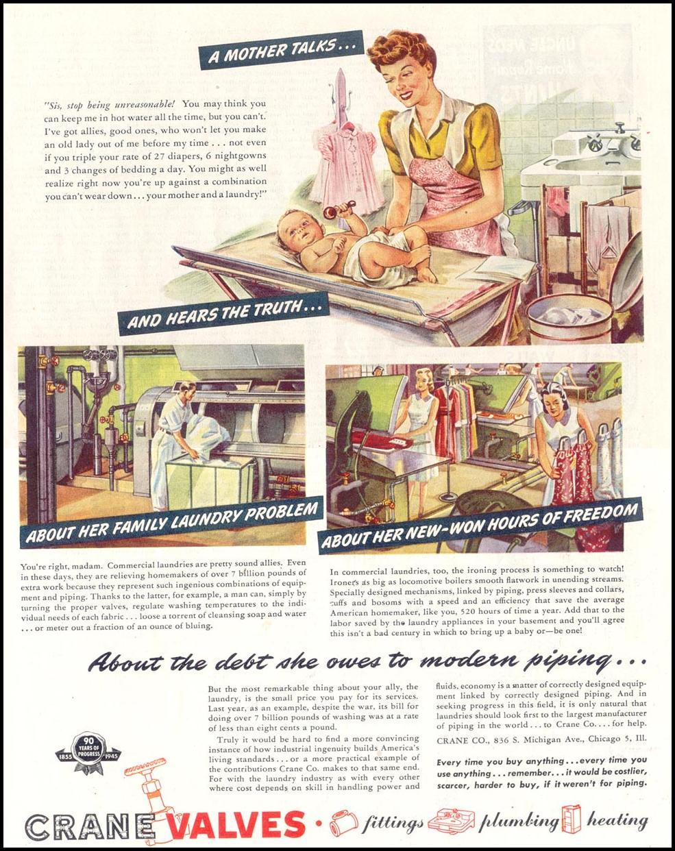 CRANE VALVES SATURDAY EVENING POST 05/19/1945 p. 69