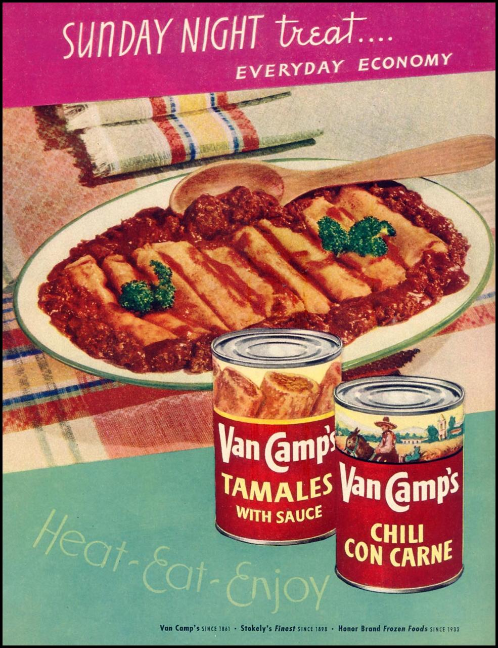 VAN CAMP'S TAMALES AND CHILI WOMAN'S DAY 10/01/1948 p. 27