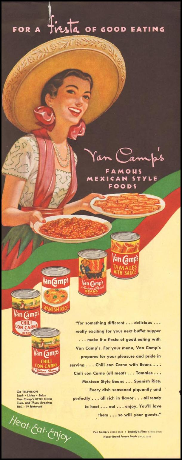 VAN CAMP'S FAMOUS MEXICAN STYLE FOODS LADIES' HOME JOURNAL 11/01/1950 p. 243
