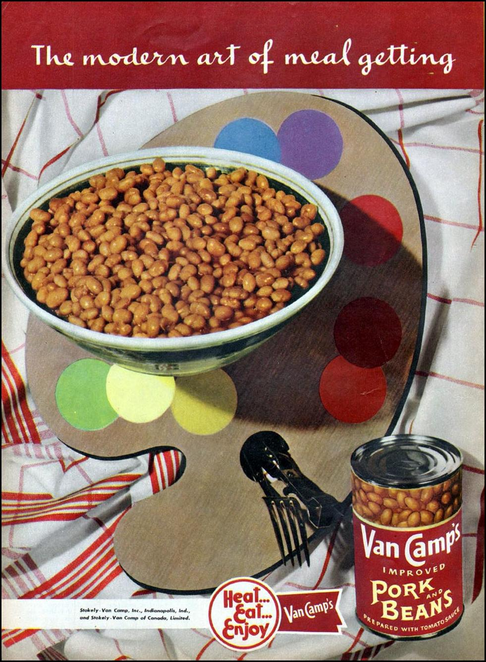 VAN CAMP'S PORK AND BEANS WOMAN'S DAY 06/01/1947