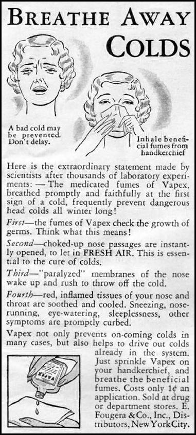 VAPEX COLD RELIEF GOOD HOUSEKEEPING 12/01/1935 p. 193