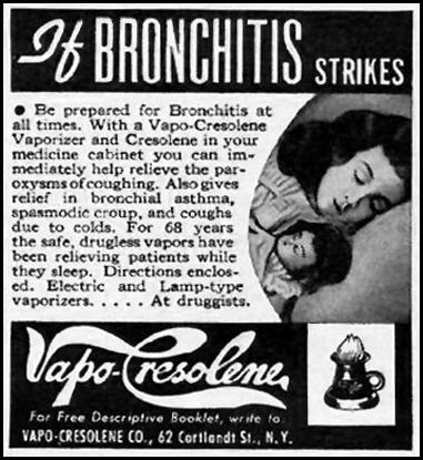 VAPO-CRESOLENE WOMAN'S DAY 01/01/1949 p. 88