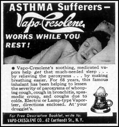 VAPO-CRESOLENE WOMAN'S DAY 03/01/1949 p. 124